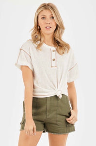 Out & About - Button tee