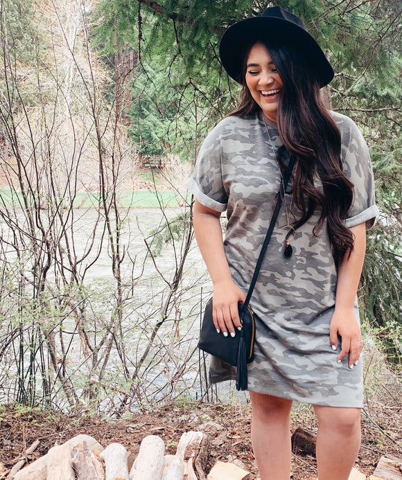 Into The Wild - Camo Shirt Dress
