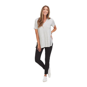 Ready For Anything - Stripe Tee