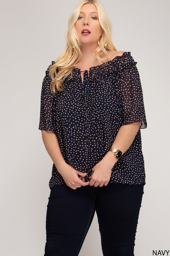 Back On Track - Navy Top