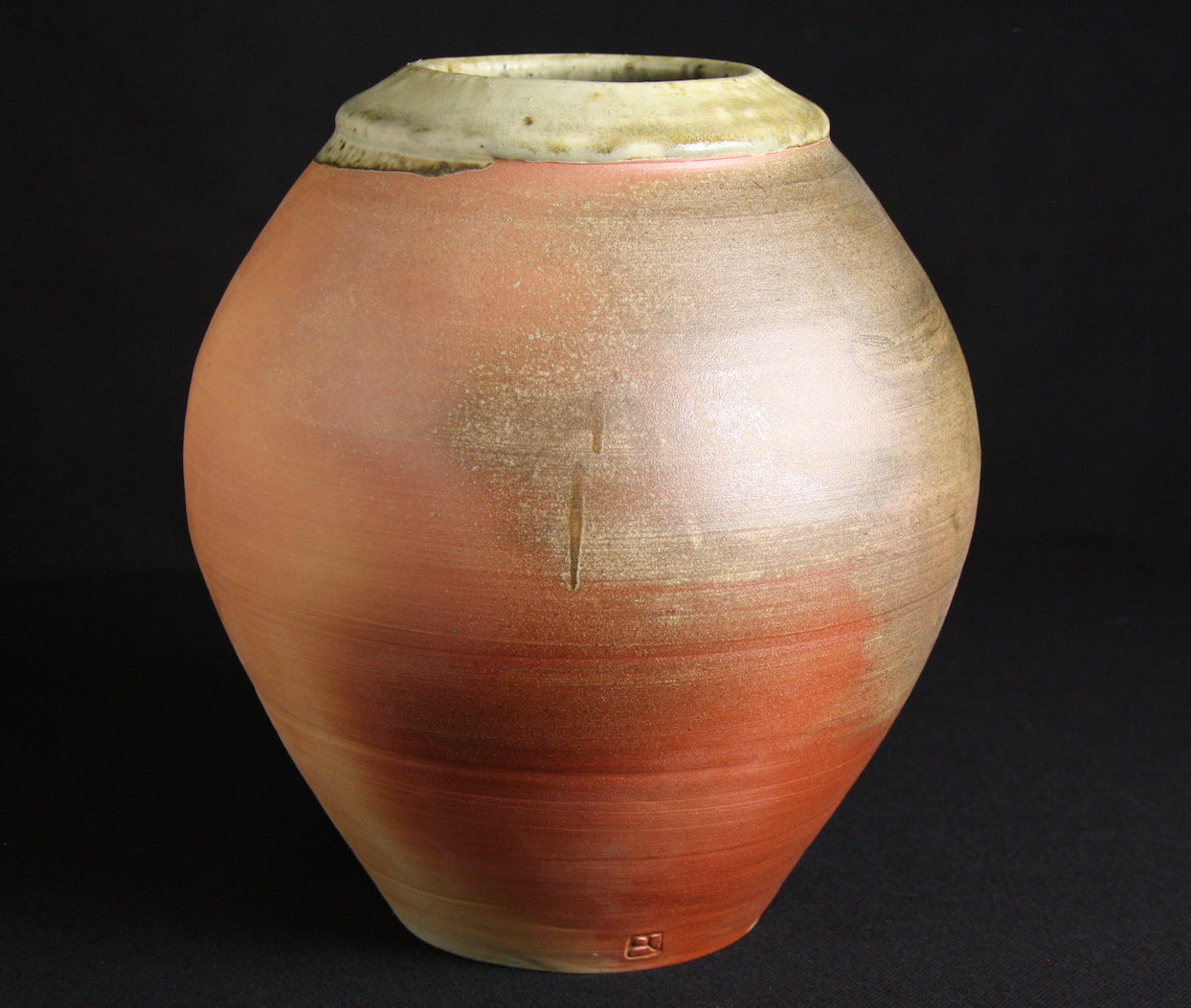 Jar | 24cm H | Ash Celadon and natural ash