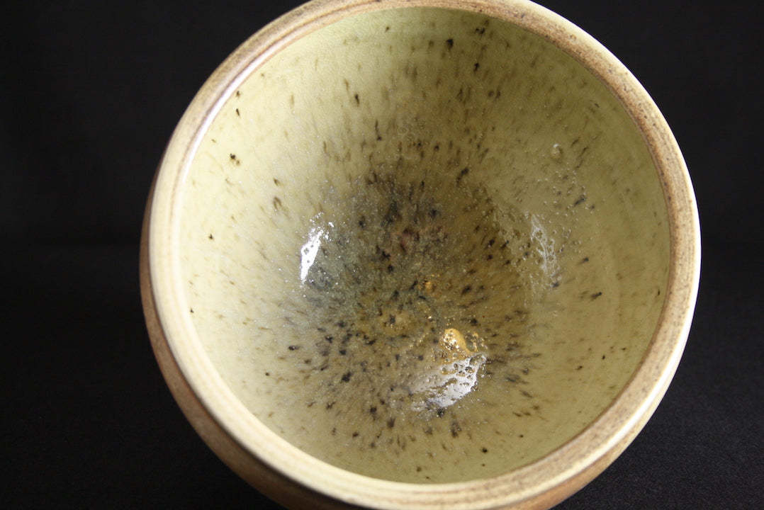 Bowl | 13cm H | Natural ash flashing, nuka glaze