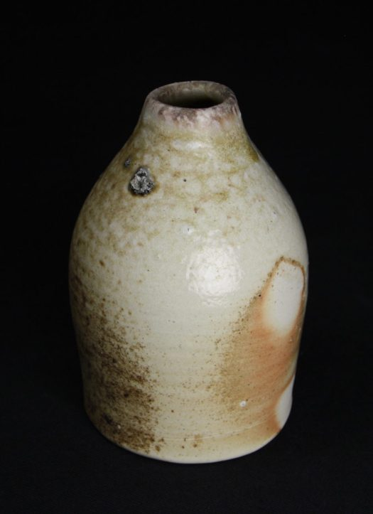 Small bottle 2017, 14cm H, natural ash and wad marks.jpg