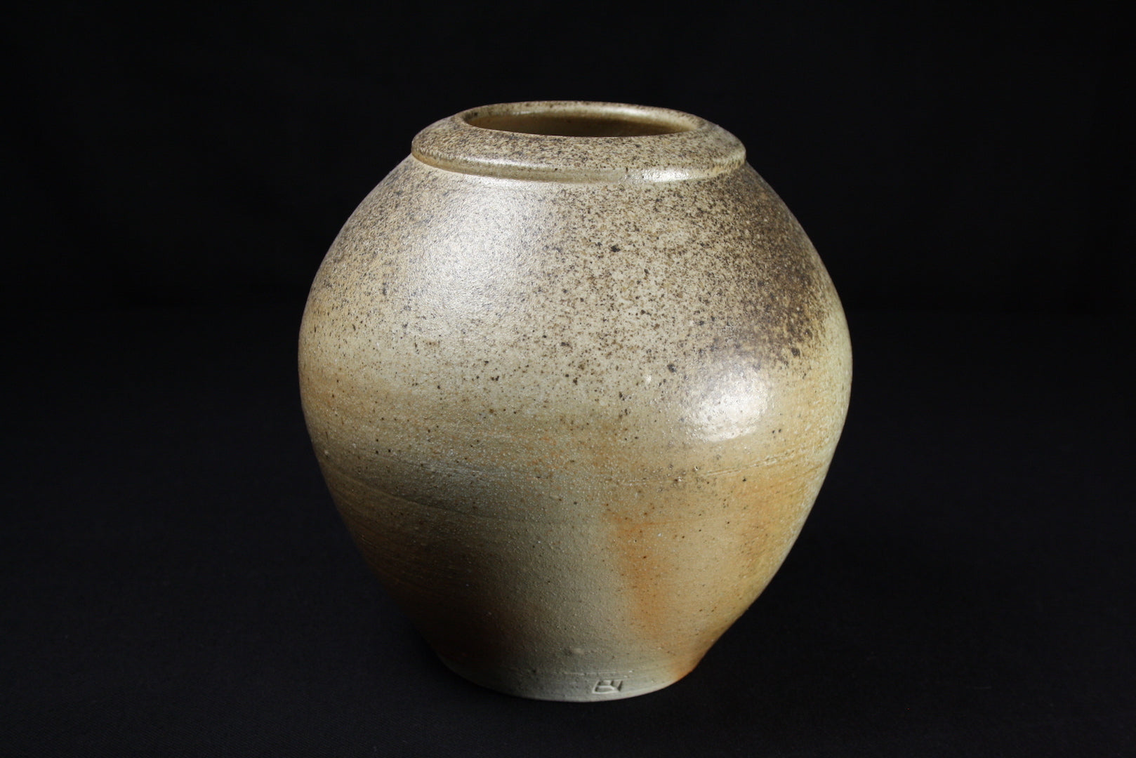 Jar, 20cm high, 20cm dia., natural ash flashing