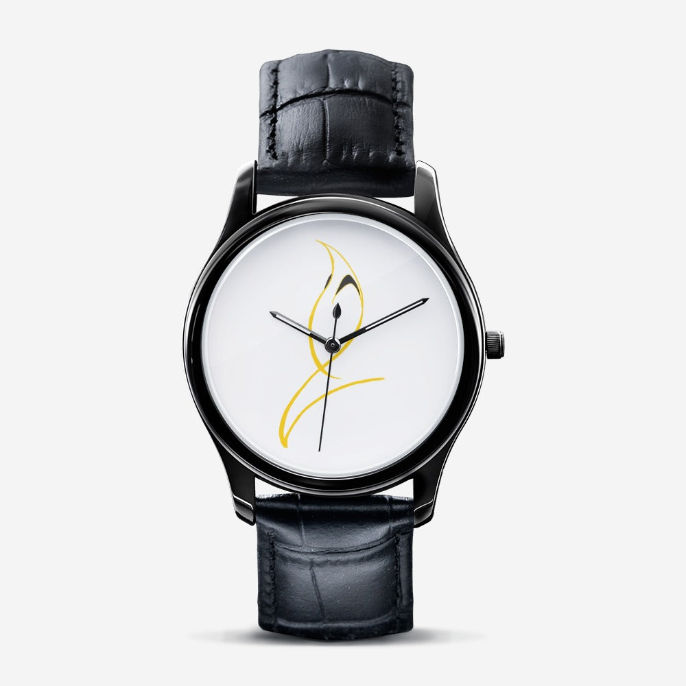 The B.M.C. & A Unisex Black Quartz Watch