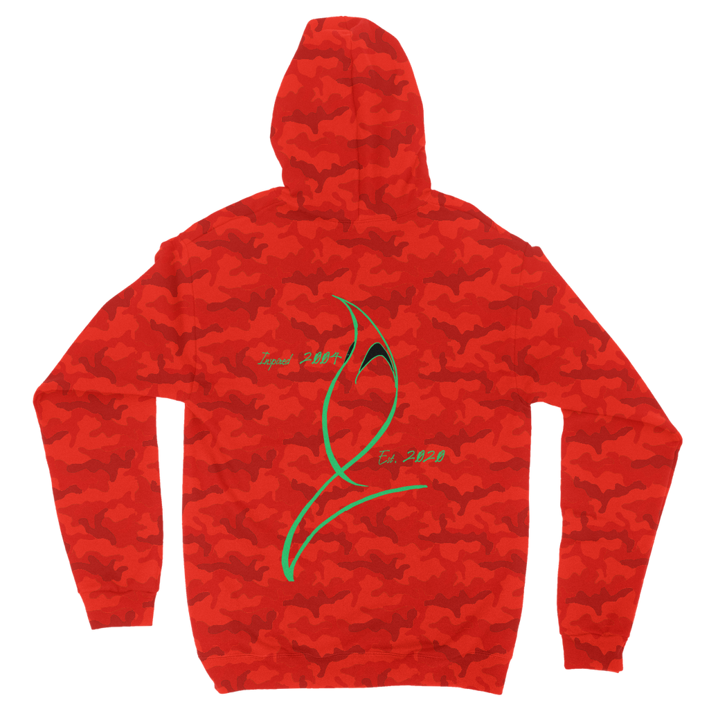 Blue Marlin Coluors Edition (Green) Camouflage Adult Hoodie
