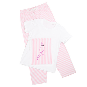 Blue Marlin Colours(Powder Pink) Women's Long Pant Pyjama Set