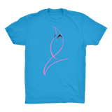 Blue Marlin Colours(Powder Pink) Organic Adult T-Shirt