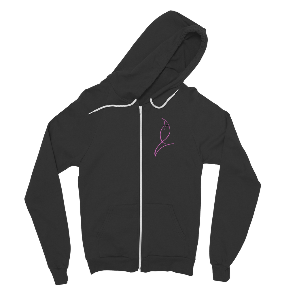 Blue Marlin Colours(Powder Pink) Classic Adult Zip Hoodie