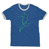 Blue Marlin Coluors Edition (Green) Adult Ringer T-Shirt