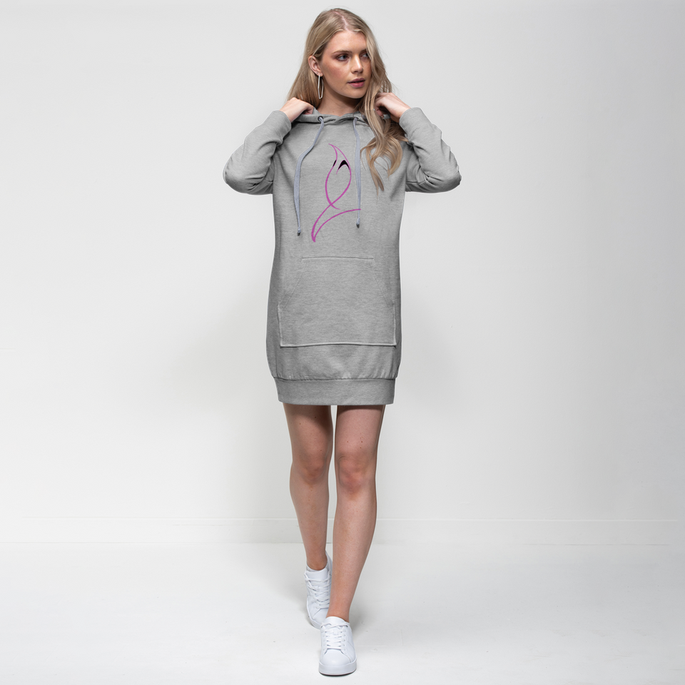 Blue Marlin Colours(Powder Pink) Premium Adult Hoodie Dress