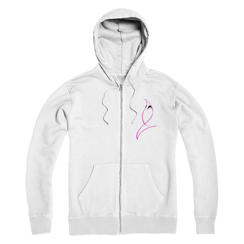Blue Marlin Colours(Powder Pink) Premium Adult Zip Hoodie