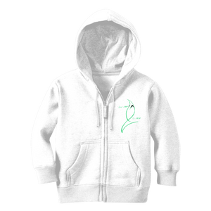 Blue Marlin Coluors Edition (Green) Classic Kids Zip Hoodie