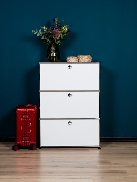USM Haller Highboard  1x3  Fächer