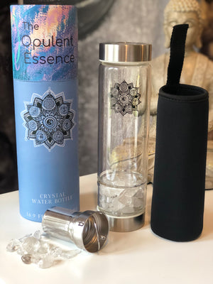 Open image in slideshow, Crystal Water bottle