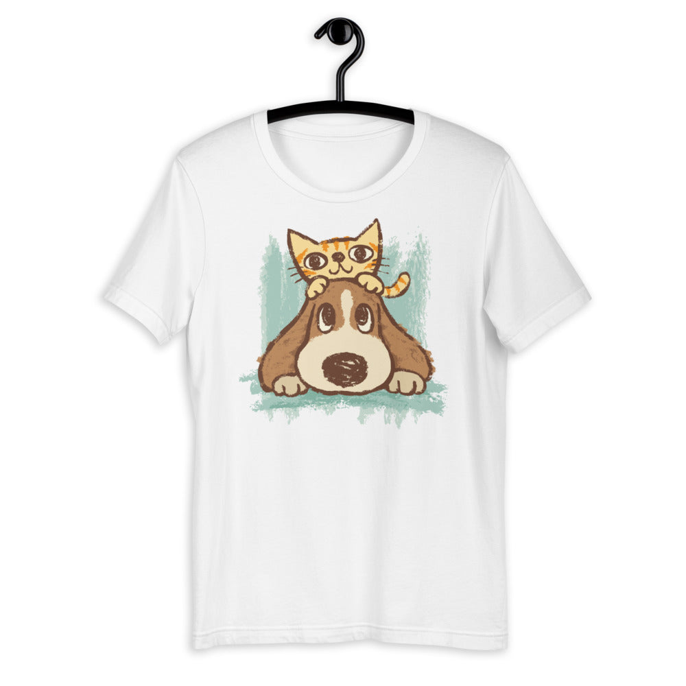 Lovely Cat And Dog Unisex T-shirt