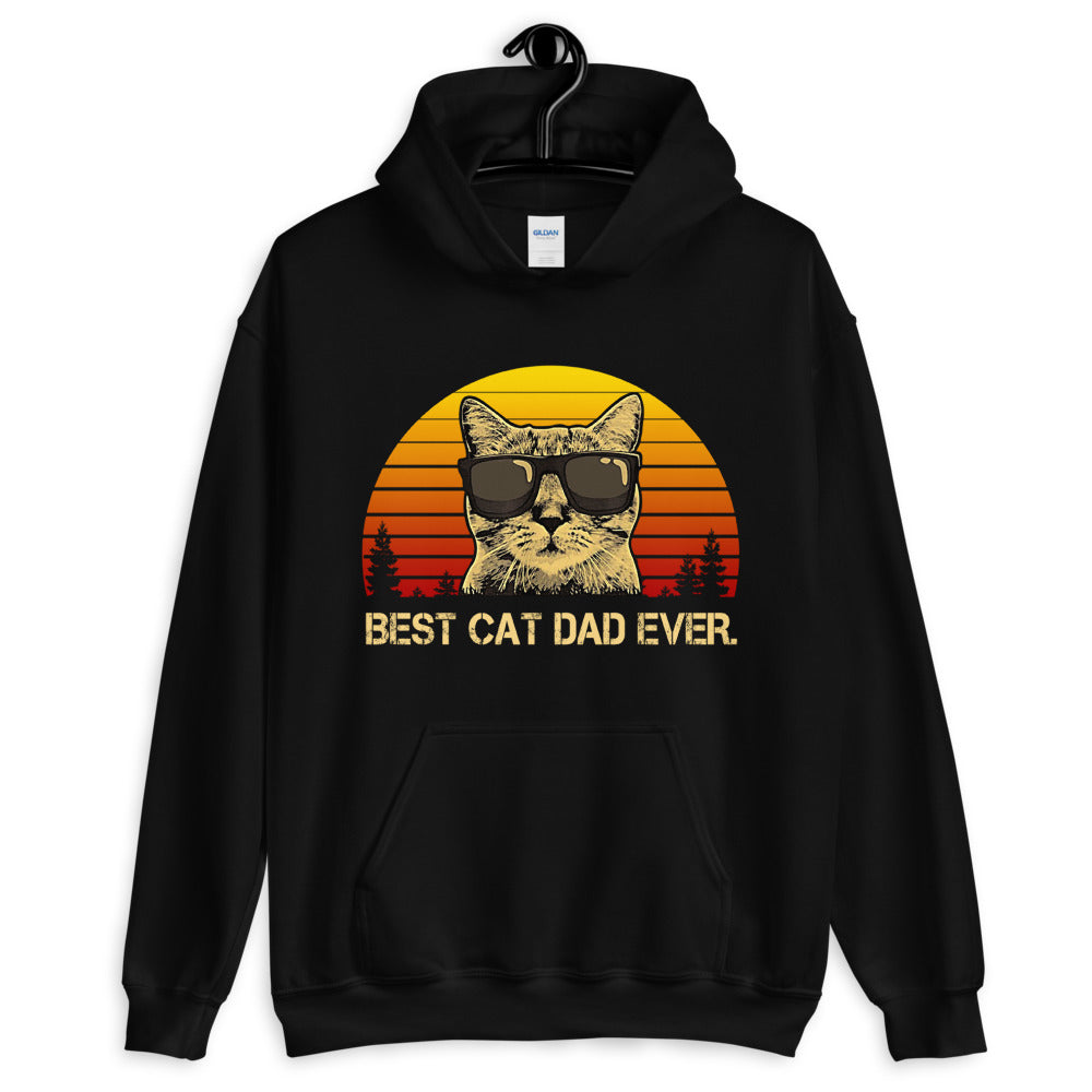 Best Cat Dad Ever Unisex Hoodie