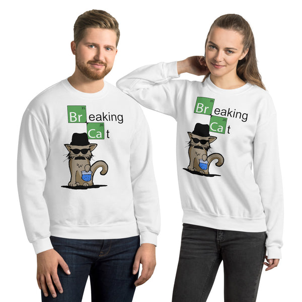 Breaking Cat Unisex Sweatshirt