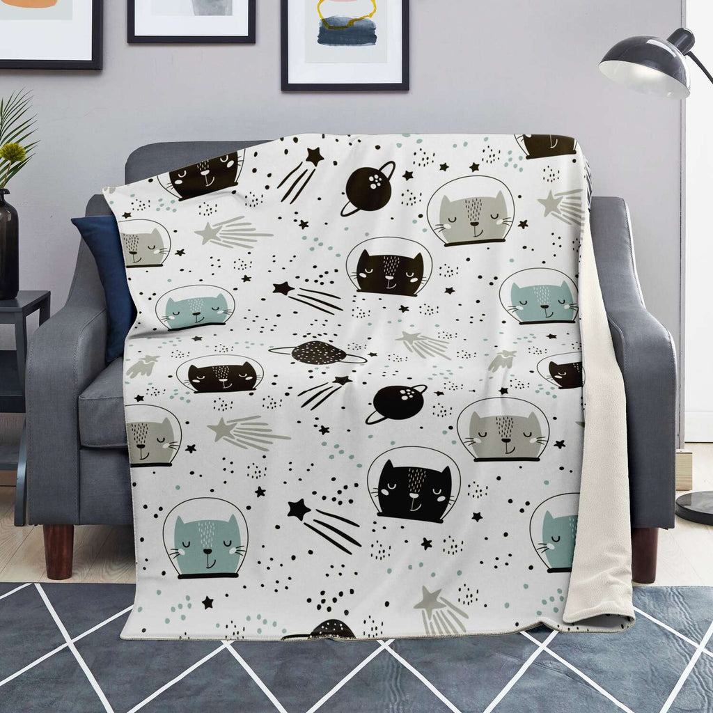 Space Cats Premium Microfleece Blanket