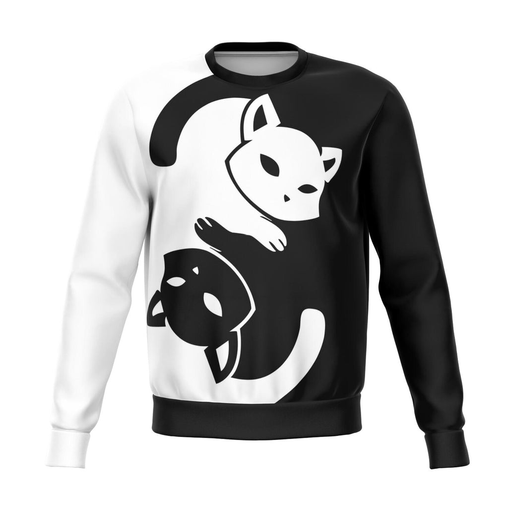 Yin Yang Cat AOP Unisex Fashion Sweatshirt
