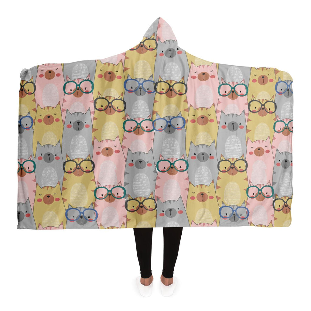 Sweet Cats Hooded Blanket