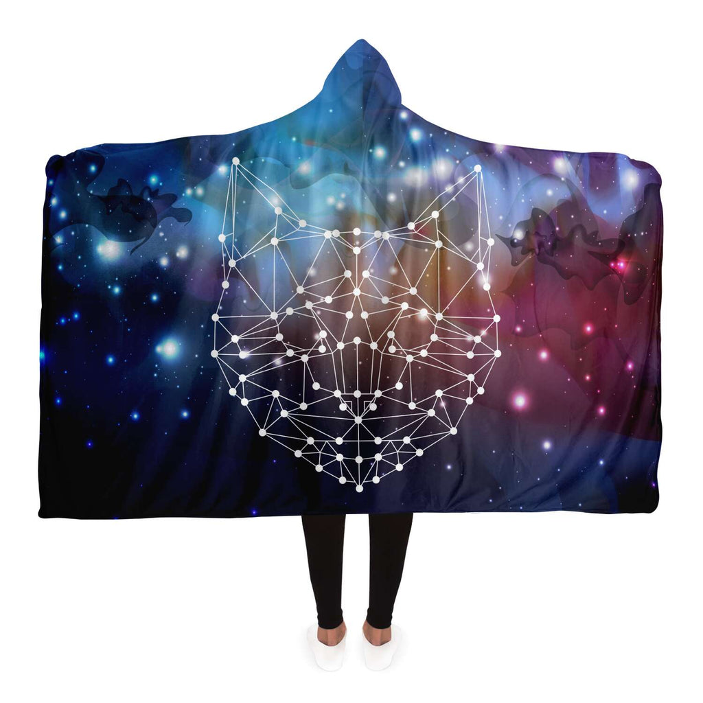 Cat Space Hooded Blanket