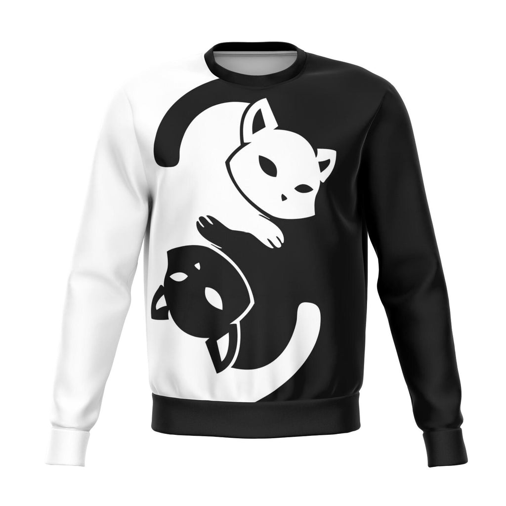 Yin Yang Cat AOP Unisex Athletic Sweatshirt