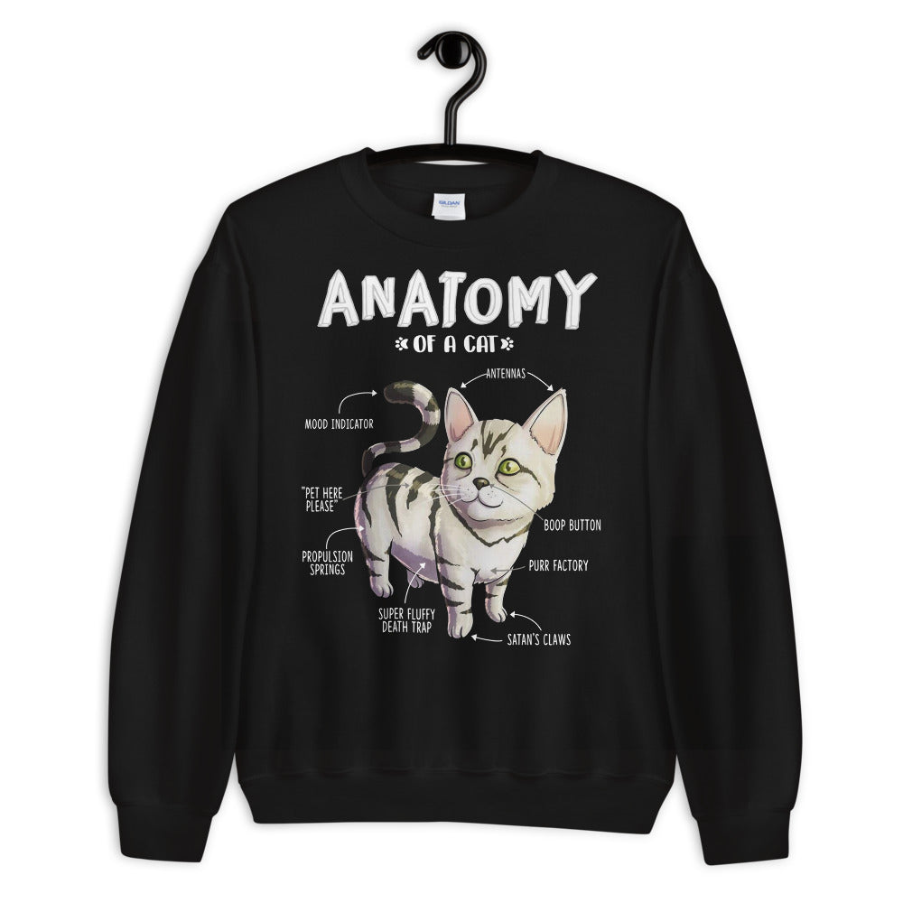 Anatomy Of A Cat Unisex Sweatshirt