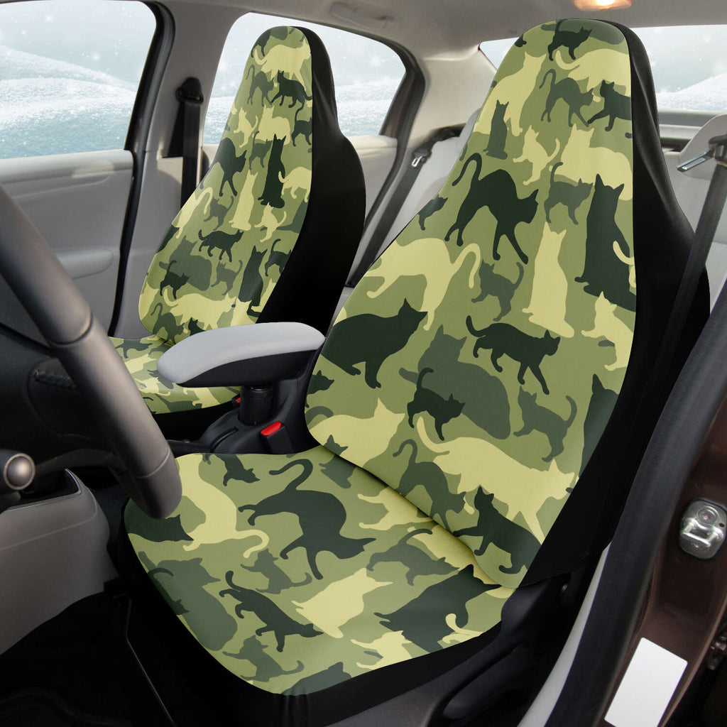 Cat Camouflage Car Seat Cover