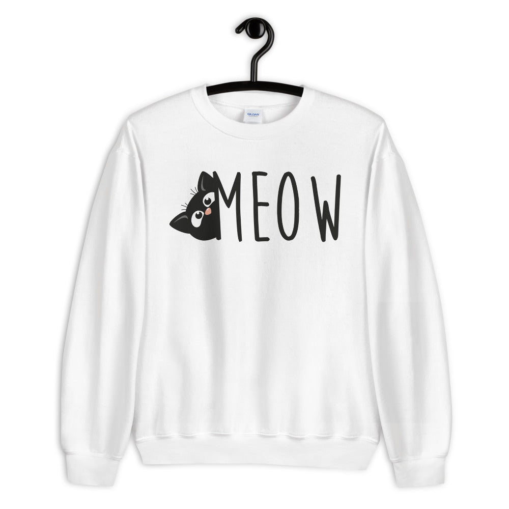 Sneak Cat Meow Unisex Sweatshirt