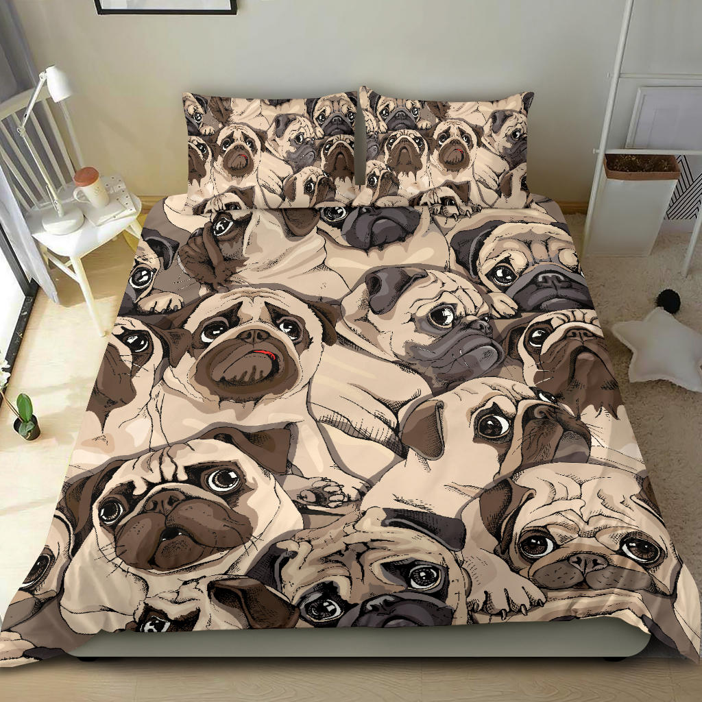 Cute Pugs Bedding Set