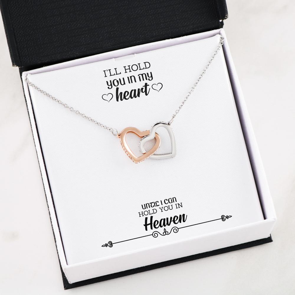 You In My Heart Interlocking Hearts Necklace