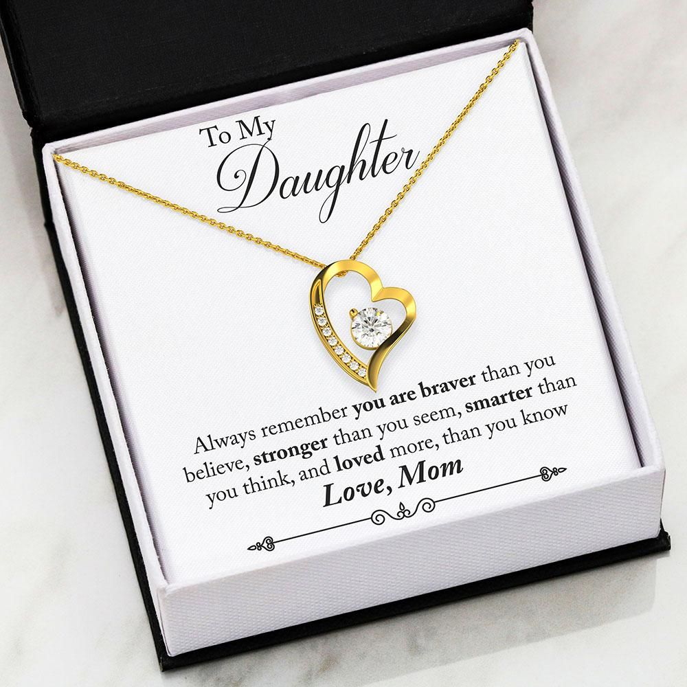 Braver Stronger Smarter Forever Love Necklace