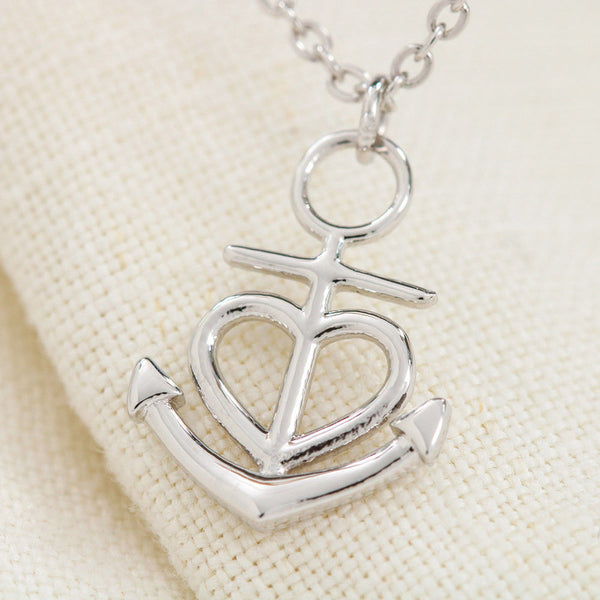 A Piece Of My Heart Anchor Necklace