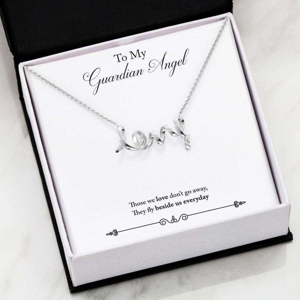 Guardian Angel Scripted Love Necklace