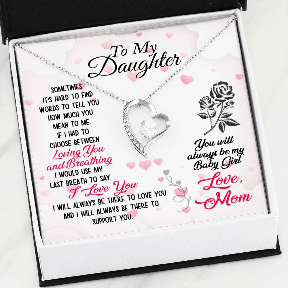 Mom To Daughter Forever Love Necklace