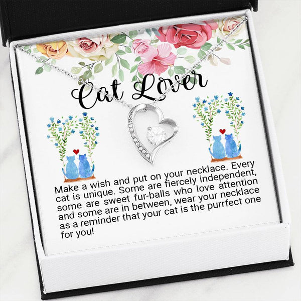 Cat Lover Forever Love Necklace