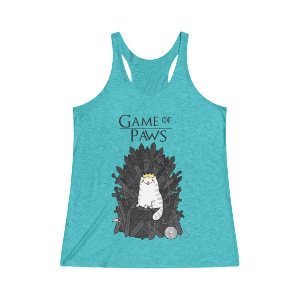 Game Of Paws Women's Tri-Blend Racerback Tank Top