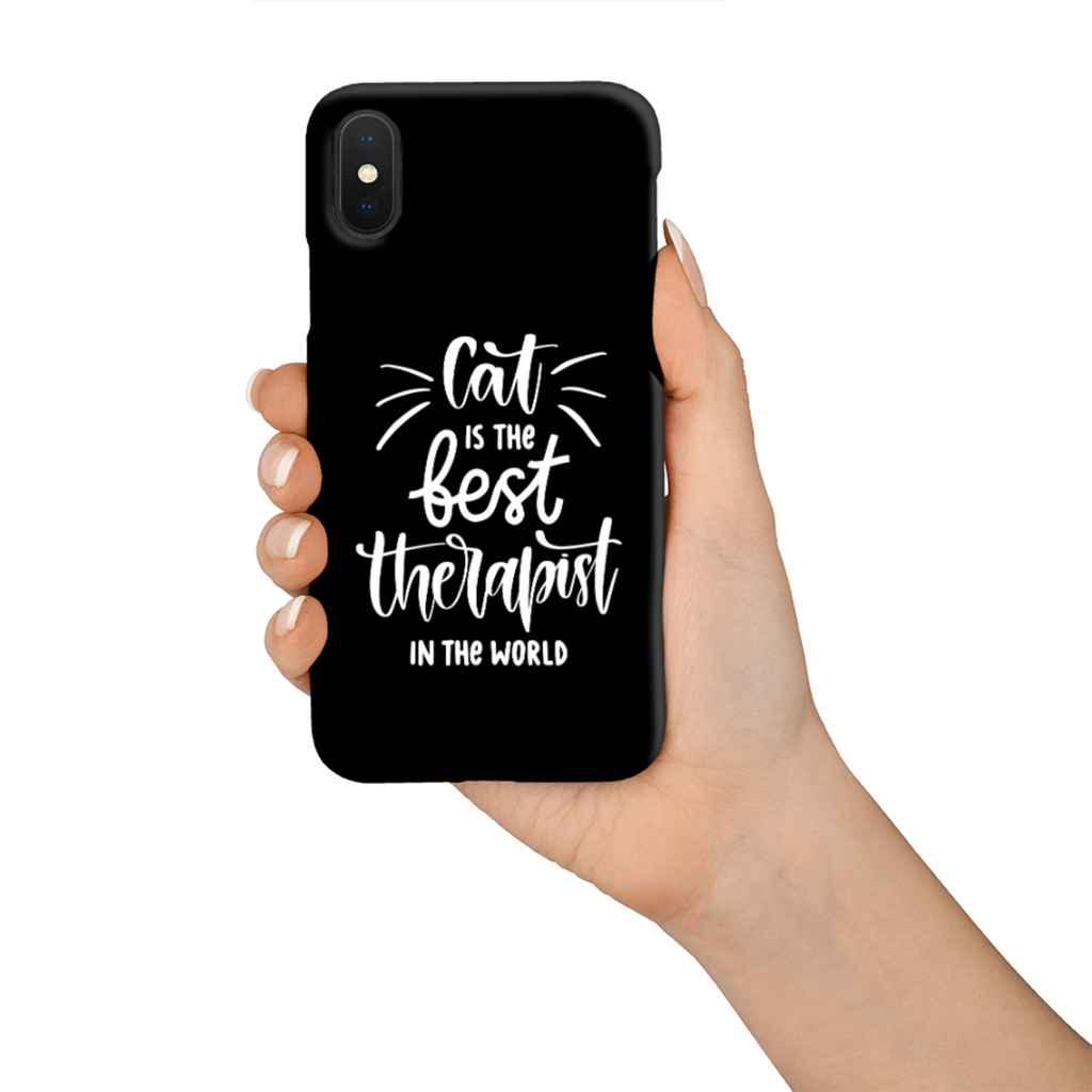 Cat Is The Best Therapist In The World Tough Phone Case