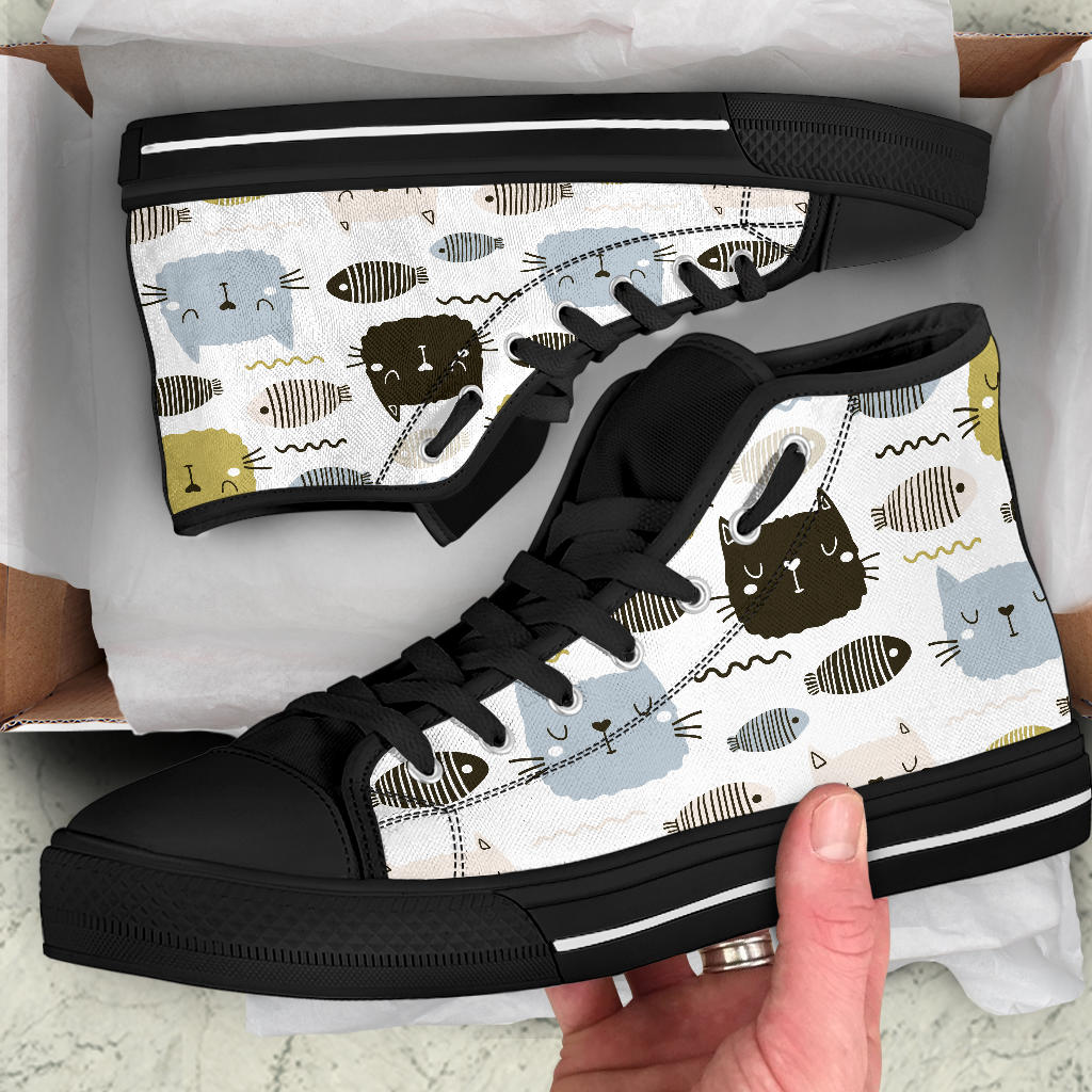 Cats And Fish Shoes