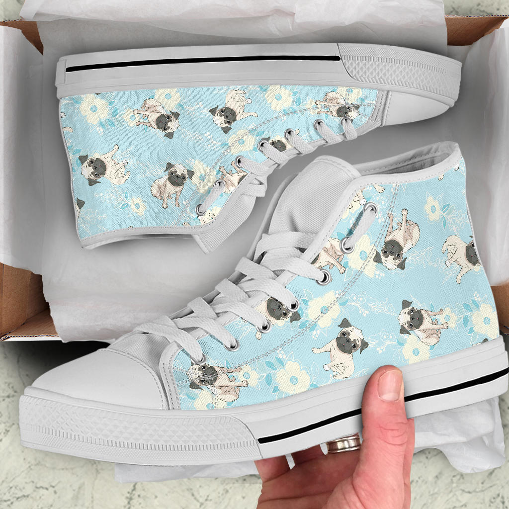 Pugs Flowers Shoes