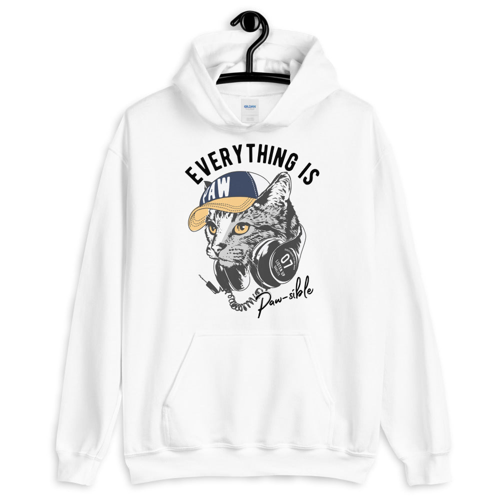 Everything Is Pawsible Unisex Hoodie