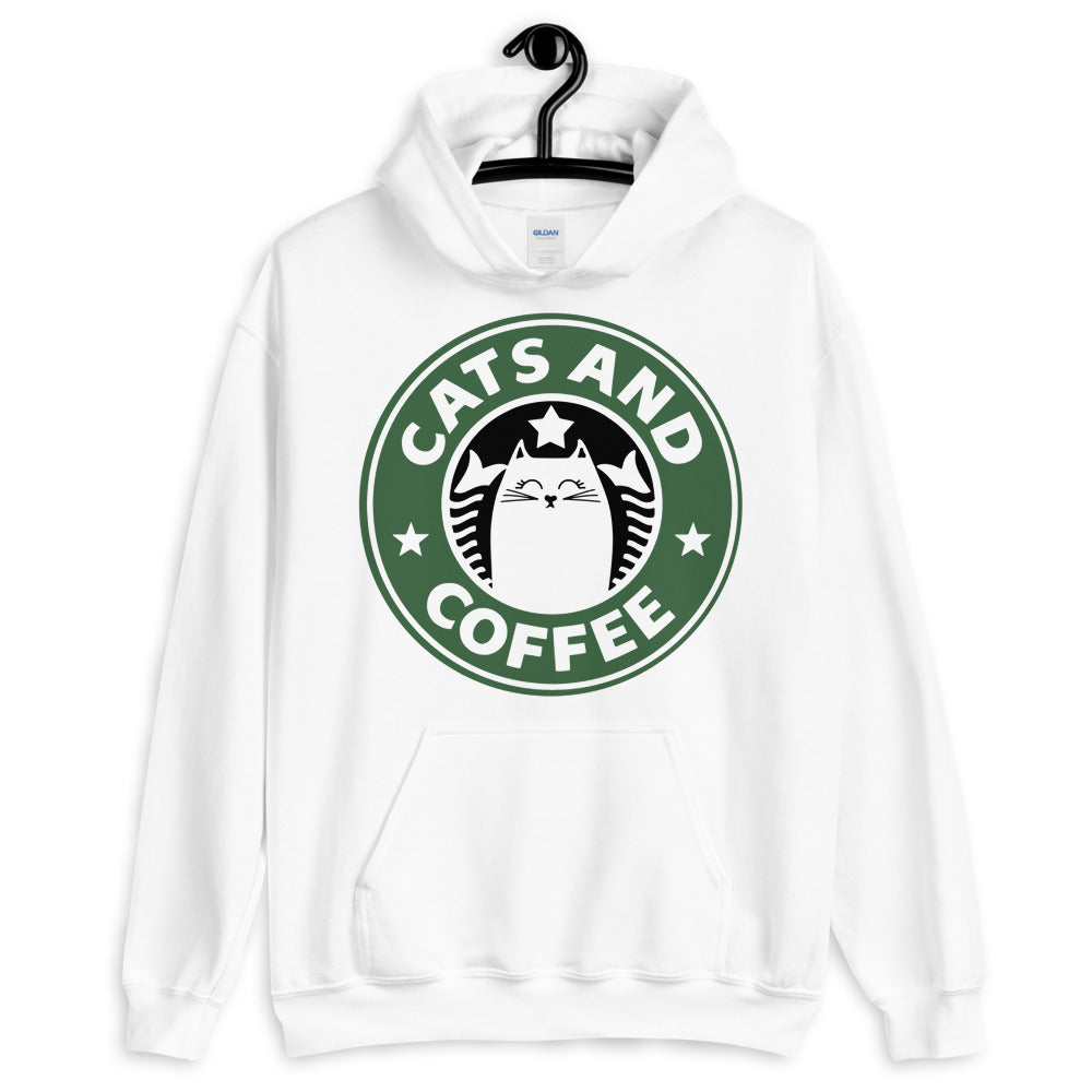 Cats And Coffee Unisex Hoodie