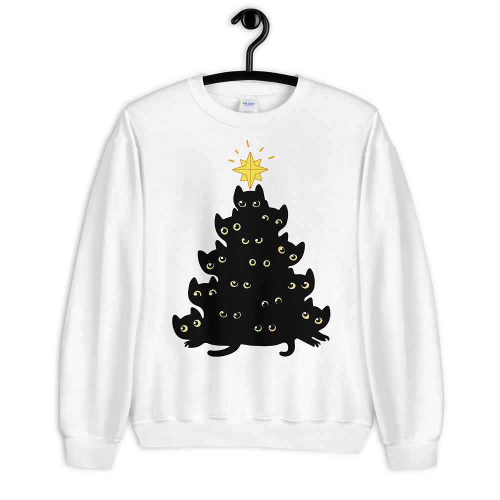 Christmas Tree Cat Unisex Sweatshirt