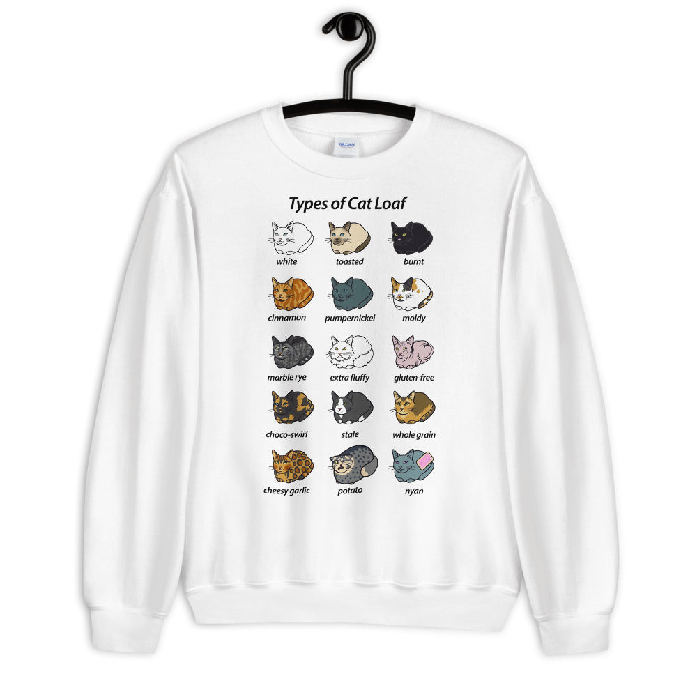 Types Of Cat Loaf Unisex Sweatshirt