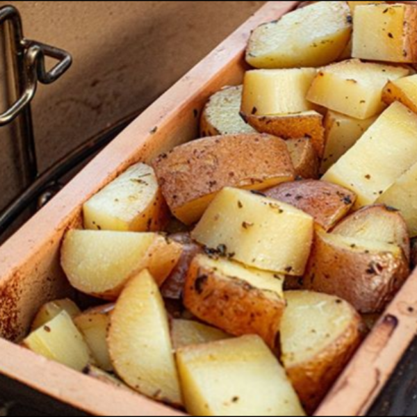 Steamed potatoes with Italian herbs by @grillfun