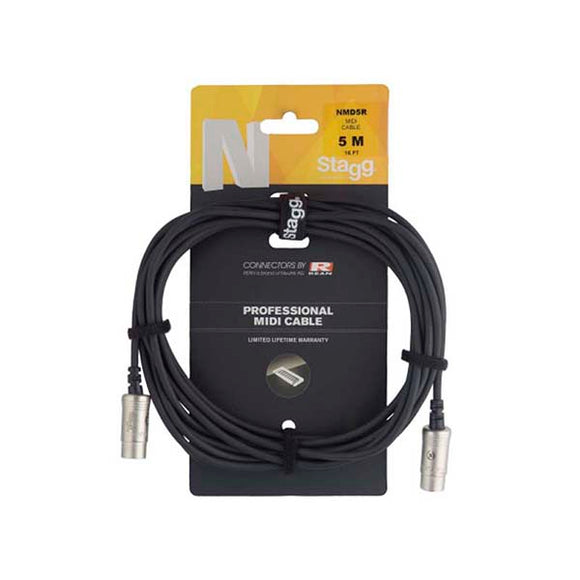 STAGG NMD5R CABLE MIDI 5 mts.