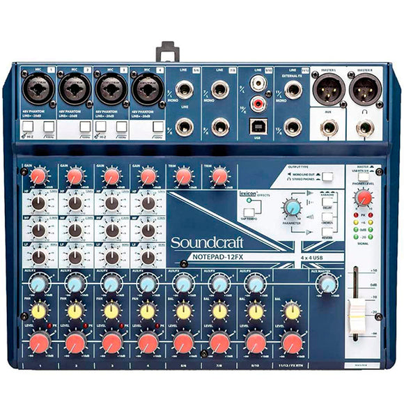 SOUNDCRAFT NOTEPAD 12FX  - MIXER USB INTERFACE
