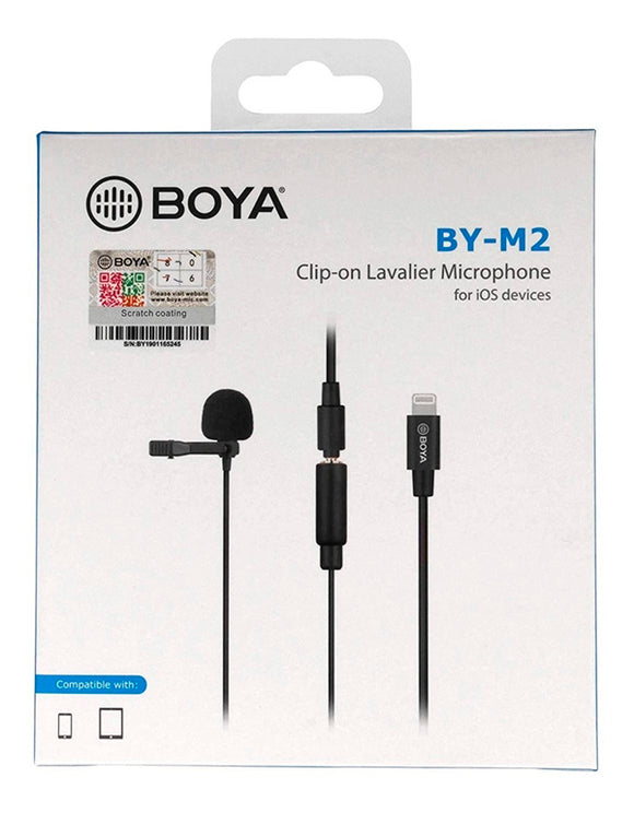 BOYA BY-M2 micrófono lavalier para dispositivos iOS Lightning