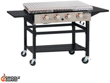 Load image into Gallery viewer, GriddleGuard Diamond Plate Hard Cover Lid for Cabela's 4-Burner Gas Griddle